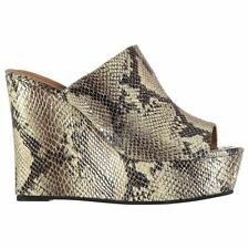 Jeffrey Campbell Womens Mansfield Wedged Snake Skin Pattern Platform Shoes