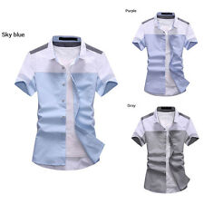 Summer Men's T-shirts Short sleeves shirts Casual Polo Shirt button front Tee