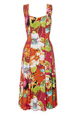 Roman Originals Ladies Floral Multi Panel Dress Sizes Multi 10-20