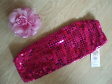 BNWT Accessorize @ Monsoon Pink Sequine Boob Tube Disco Clubbing Various Sizes
