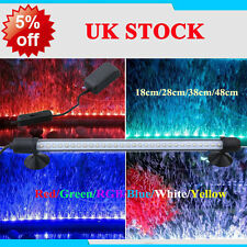 Aquarium Fish Tank Lighting Waterproof RGB White&Blue LED Light Bar Submersible