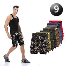 New Mens Summer Cotton Army Camo Combat Cargo Casual Shorts Pants Trousers 32-40