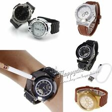 Cool Men Military Lighter Butane Cigarette Cigar Lighter Refillable Wrist Watch