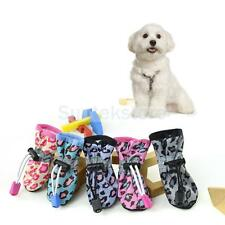 4pcs Cute Dog Shoes Puppy Rain Boots Waterproof Rubber Shoes 5 Colors Size 1#-7#