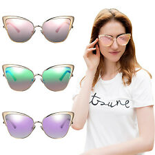 Women New Fashion Cat Eye Metal Frame Sunglasses Outdoor Vintage Eyewear Shades