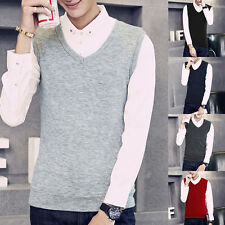 Stylish Mens Slim Fit V-Neck Knitwear Pullover Cardigan Sweater Vests Tops