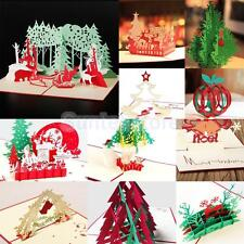 3D Pop Up Handmade Christmas Happy New Year Greeting Cards 11 Types