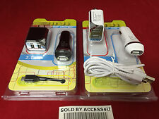 2.1AMP USB CAR CHARGER & HOME DUAL USB ADAPTER FOR SAMSUNG GALAXY S7 LG K10 G5