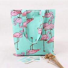 New Women Girls Fashion Flamingos Shoulder Bag Backpack Shopping Bag Travel Bag
