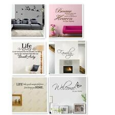 Removable Art Vinyl Wall Sticker Decal Mural Home Room Decor Quote Word Poem s4