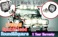 24W/27W Spot Flood LED Work Light Driving Boat ATV UTV Offroad Car Truck 4x4WD