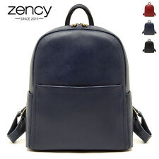Vintage Retro Genuine Leather Women Backpack Knapsack School Bag Ladies Rucksack