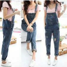 Lady Denim Jumpsuit Long Pant Overalls Jean Playsuit Rompers Tight Slim Trousers