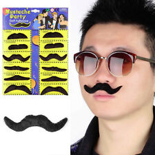 Funny 12pcs Costume Party Halloween Funny Fake Mustache Moustache Beard Whisker