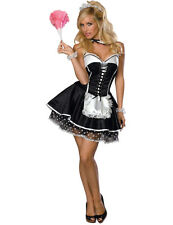 Ladies Sexy Naughty French Maid Waitress Outfit Fancy Dress Costume