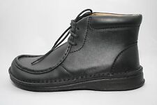 Footprints by Birkenstock Men's Pasadena High Black Leather Ankle Boot Lace-up