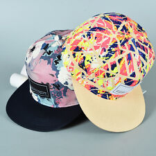 Funky Men Women Adjustable Graffiti Floral Snapback Baseball Cap Hip Hop Sun Hat
