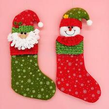 Christmas Stocking Sock Hanging Gift Bag Decoration Xmas Santa Claus Snowman HOT