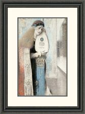 Global Gallery 'A Musician' by Fernand Khnopff Framed Painting Print