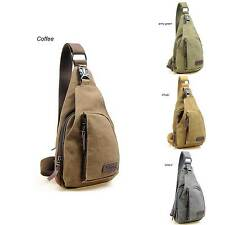 Mens Canvas Military bag Messenger Shoulder bag Travel Hiking Cycle Bag Backpack