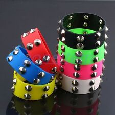 """Gothic Punk Rock Stainless Steel Stud Spikes Rivets Wristband Bracelet Bangle 8"""""""