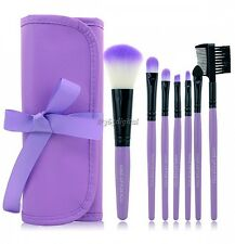 New Purple / Pink 7PCS Professional Handle Makeup Cosmetic Brush Set With Case