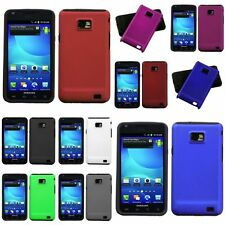 Red/White/Blue/Purple/Black Hard Rubberized Case For Samsung Galaxy S2 II i777