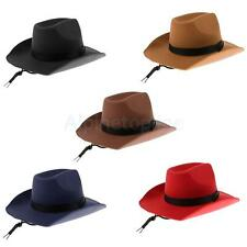 Wild Western Cowboy Hat Cowgirl Fedora Rodeo Hat Sunhat Cap Fancy Dress Costume