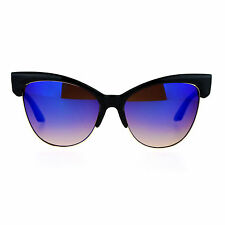 Oversized Cateye Butterfly Sunglasses Womens Mirror Lens Fashion Shades