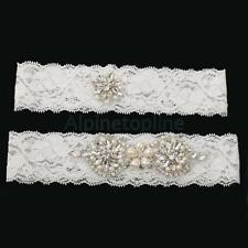 Wedding Garter Set Lace Garter Belt Diamante Leg Belt 1 to Keep 1 to Throw