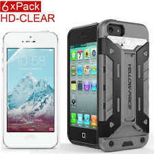 [SHOCK ABSORPTION]Slim Armor Kick-Stand Case,6XHD Clear Protector F iPhone 5C SE