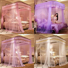 Stainless Steel Romantic Mosquito Net For Bed Canopy Bed Curtain Tube Rail Nets