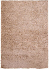 Rugs Taupe Beige-Brown Contemporary Area Shag Rug Solid Modern Shaggy Carpet