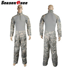 S-XXL Emerson EM2727 Tactical Combat Uniform Shirt Pants w/ Elbow Knee Pads ACU