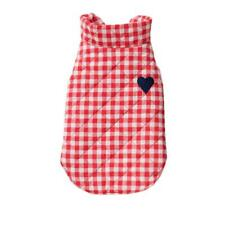 Pet Dog Cotton Embroidery Plaid Waistcoat Vest Puppy Clothes Apparel Red/Blue