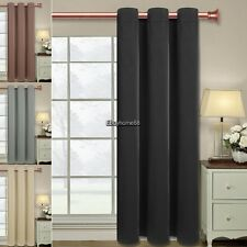 """Single Panel Blockout Solid Ring Hole Window Curtains Drapes Set 62.4x51.5"""" EE8"""