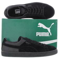 Puma Suede Classic Emboss Shoes Mens Black Suede Leather Trainers Size UK 8-11