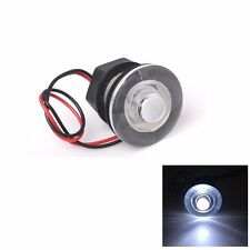 Marine Boat RV Waterproof LED 38mm Round White Livewell Courtesy Light Interior