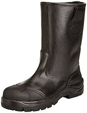 DICKIES SAFETY RIGGER BOOTS STEEL TOE BLACK COWETA MENS FD9211 SIZE UK 6 - 12