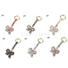 Rhinestone Bling Cute Key Chain Keyring Fob Mobile Phone Bag Purse Charm Bowknot