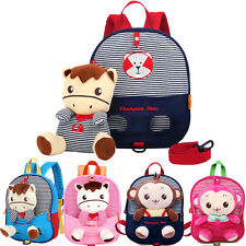 Kids Girls Boy Toddler Children Anti-lost Backpack Schoolbag Bag Travel Bag Cute