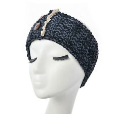 8 Colours Women Crochet Headband Botton Knit Winter Headwrap Ear Warmer hairband