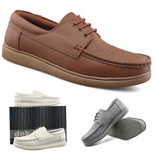 Unisex Mens Womens New White Grey Or Tan Lace Up Comfort Leather Bowling Shoes