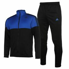 adidas Mens Train Knit Tracksuit ClimaLite Sports Elastic Training Top Bottoms
