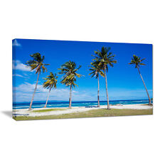 Design Art Bright and Clear Tropical Beach Photographic Print on Wrapped Canvas