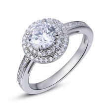 1.4 Round White AAA CZ 925 Sterling Silver Engagement Wedding Ring Gemstone 5-10