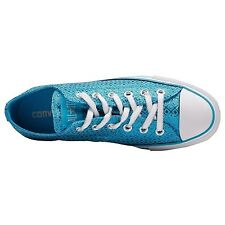 WOMEN'S Converse Chuck Taylor All Star Blue Sparkly Specialty Wrapping paper Ox