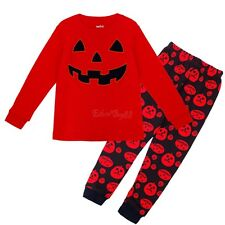 Infant Baby Child Boys Girls Toddler Kids Outfits Set Halloween Pumpkin Clothes