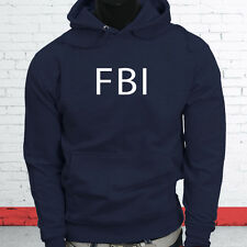 FBI Undercover Detective Police Officer Cops Law Court Mens Navy Hoodie