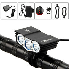 10000Lm 3x XML T6 LED Solarstorm Front Cycling Bicycle Light 6400mAh+ Laser LAMP
